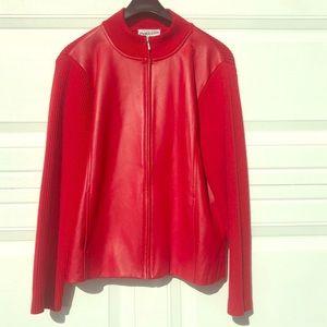Vintage Pendleton Candy Red Leather Jacket Size L